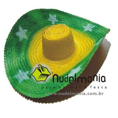 Chapeu-Sombrero-Mexicano-Brasil---palha---unidade