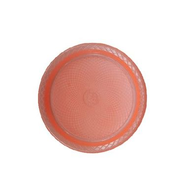 Prato-Forfest---15-cm---plastico-descartavel---Laranja-Neon---pacote-10-unidades