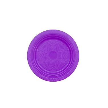 Prato-Forfest---15-cm---plastico-descartavel---Roxo-Neon---pacote-10-unidades