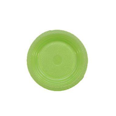 Prato-Forfest---15-cm---plastico-descartavel---Verde-Neon---pacote-10-unidades