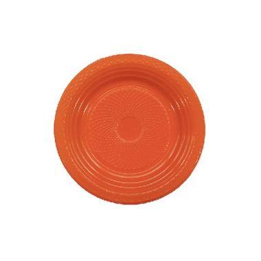 Prato-Forfest---18-cm---plastico-descartavel---Laranja---pacote-10-unidades