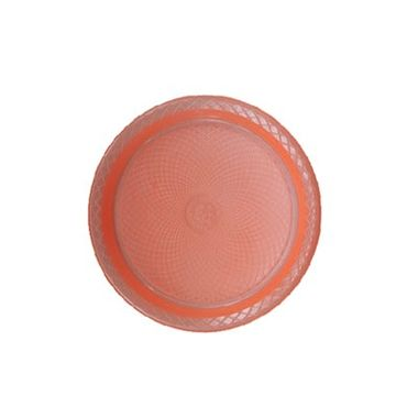 Prato-Forfest---18-cm---plastico-descartavel---Laranja-Neon---pacote-10-unidades