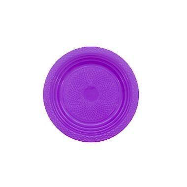 Prato-Forfest---18-cm---plastico-descartavel---Roxo-Neon---pacote-10-unidades