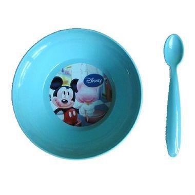 Prato-Fundo-Mickey---com-colher---plastico---unidade