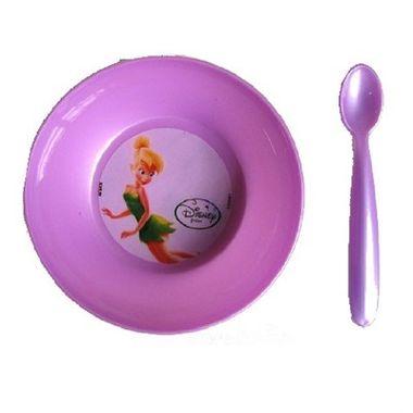 Prato-Fundo-Tinker-Bell---Fadas---com-colher---plastico---unidade