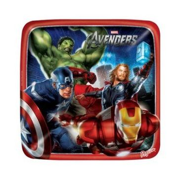Prato-Os-Vingadores---The-Avengers---Quadrado---18-cm---08-unidades