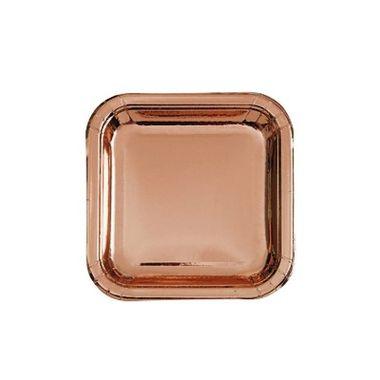 Prato-Papel-Quadrado-18-cm-Rose-Gold---08-unidades