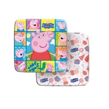 Prato-Peppa-Pig---Quadrado---pacote-08-unidades
