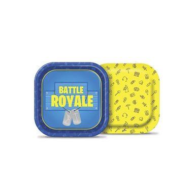 Prato-Quadrado-Battle-Royale---18-cm---papel-cartao---08-unidades