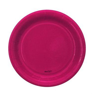 Prato-Redondo-Pink-18-cm---papel-cartao---08-unidades