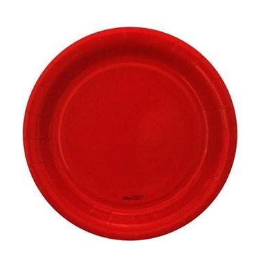 Prato-Redondo-Vermelho-18-cm---papel-cartao---08-unidades