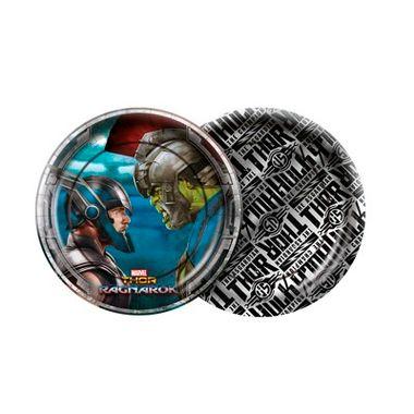 Prato-Thor-Ragnarok---18-cm---embalagem-08-unidades