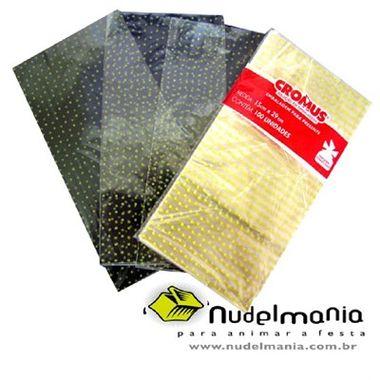 Saco-Plastico-Poa-Amarelo-Luxo---para-presente---transparente-polipropileno---15-x-29-cm---100-unidades