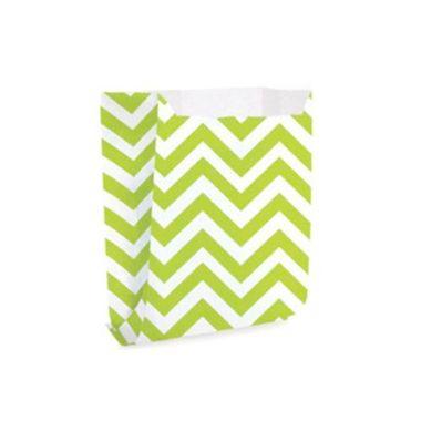 Saquinho-de-papel---Chevron-Branco-e-Verde---10-unidades