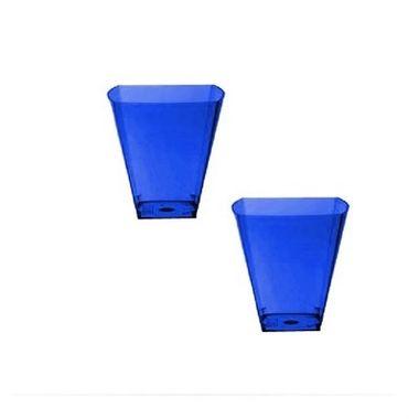 Copo-Sobremesa-e-Degustacao---Acrilico---PIC-051---50-ml---Azul---pacote-10-unidades