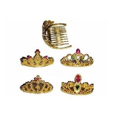 Coroa-Margareth---Dourada---modelos-sortidos---pacote-12-unidades