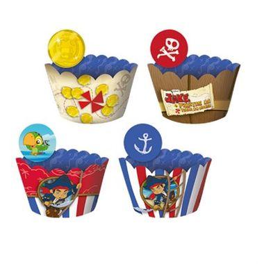Cupcake-Wrapper-Jake-e-os-Piratas---Saia-Cupcake---com-Enfeite---pacote-12-unidades