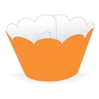 Cupcake-Wrapper-Liso---Saia-Cupcake---cor-LARANJA---pacote-12-unidades