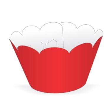 Cupcake-Wrapper-Liso---Saia-Cupcake---cor-VERMELHO---pacote-12-unidades
