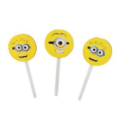 Enfeite-Pick-Para-Cupcake-Minions---Meu-Malvado-Favorito---palito-plastico---pacote-08-unidades