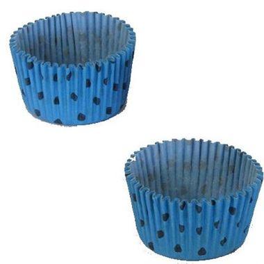 Forminha-Cupcake-Poa---n°-0---Azul-Claro-com-Marrom---pacote-45-unidades