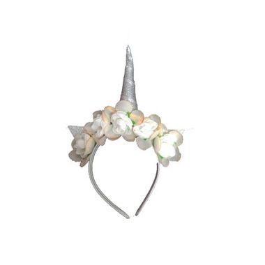 Tiara-Unicornio-Floral---cor-Prata---unidade