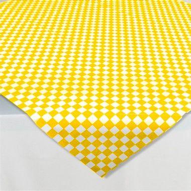 Toalha-Perolizada-Xadrez-Amarela-com-Branco---78x78---10-unidades