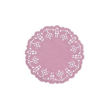 Toalha-Rendada-Redonda-14-cm---Rosa---12-unidades