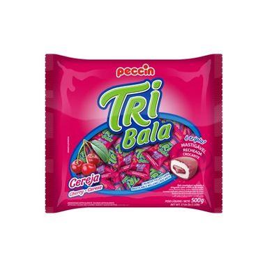 Tri-Bala-Mastigavel-Recheada-e-Drageada---sabor-Cereja---embalagem-500-gr