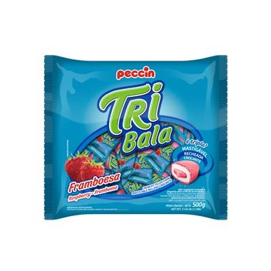 Tri-Bala-Mastigavel-Recheada-e-Drageada---sabor-Framboesa---embalagem-500-gr