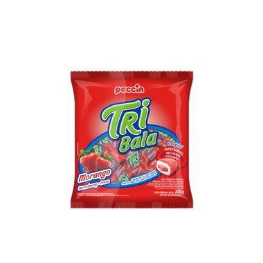 Tri-Bala-Mastigavel-Recheada-e-Drageada---sabor-Morango---embalagem-100-gr