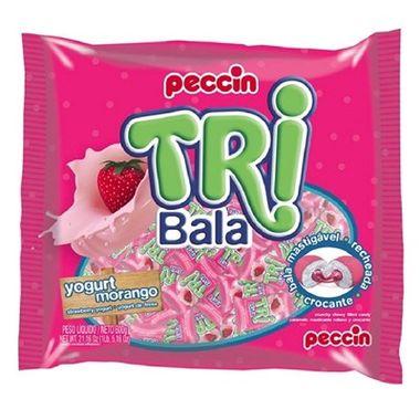 Tri-Bala-Mastigavel-Recheada-e-Drageada---sabor-Yogurt-Morango---embalagem-600-gr
