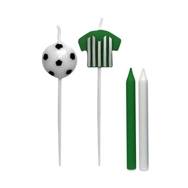 Vela-Camisa-Futebol---Verde-e-Branco---pacote-08-unidades