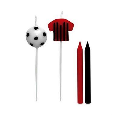 Vela-Camisa-Futebol---Vermelho-e-Preto---pacote-08-unidades