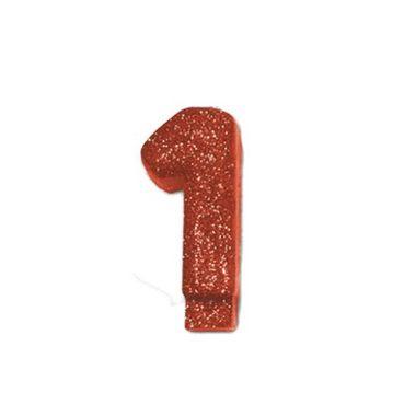 Vela-Colors-Glitter---Nº1-Vermelha---unidade