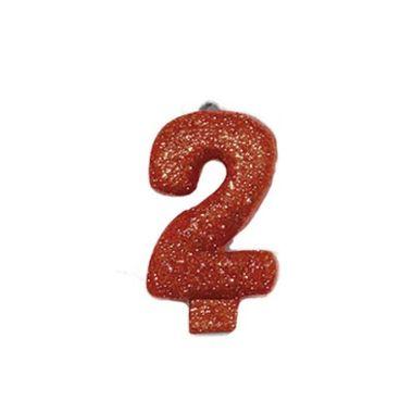 Vela-Colors-Glitter---Nº2-Vermelha----unidade