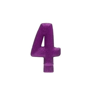 Vela-Colors-Glitter---Nº4-Lilas---unidade