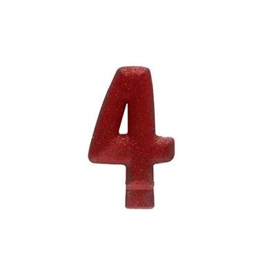 Vela-Colors-Glitter---Nº4-Vermelha----unidade