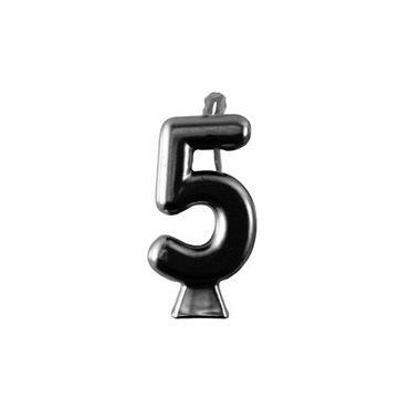 Vela-Metallic-Preta---Numero-5---unidade