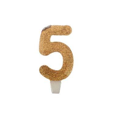 Vela-Super-Stylus---Dourada-Nº5---unidade