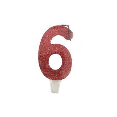 Vela-Super-Stylus---Vermelha-Nº6---unidade