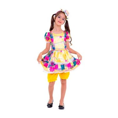 Vestido-Junino-Amarelo---Tamanho-G---infantil---unidade