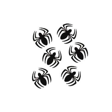Aplique-Aranha---Decorativo---e-v-a----pacote-06-unidades