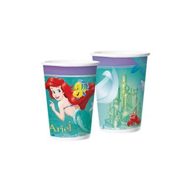 Copo-Ariel---A-Pequena-Sereia---papel---180-ml---embalagem-08-unidades