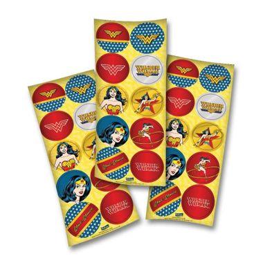 Adesivo-Decorativo-Redondo-Mulher-Maravilha---30-unidades