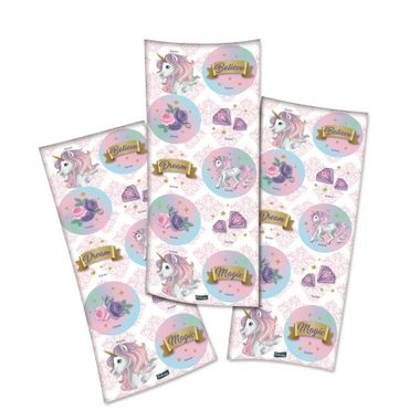 Adesivo-Decorativo-Unicornio-New---Redondo---embalagem-30-unidades