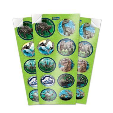 Adesivo-Decorativo-Jurassic-World---3-cartelas-com-10-unidades