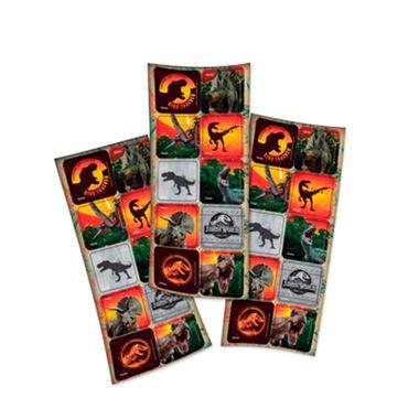 Adesivo-Quadrado---Jurassic-World-2----3-cartelas-com-10-unidades