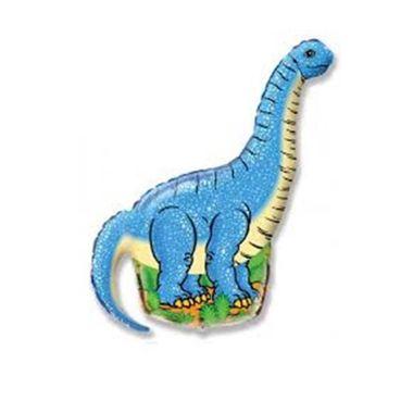 Balao-Dinossauro-14----Mini-Shape---metalizado---Azul---unidade
