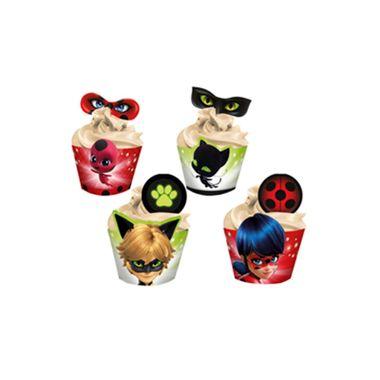 Cupcake-Wrapper-Ladybug---Saia-Cupcake---pacote-12-unidades